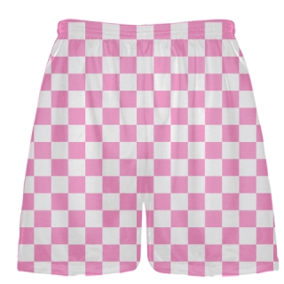 Light Pink Checker Board Shorts Lacrosse