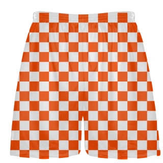 Orange and White Checker Board Shorts