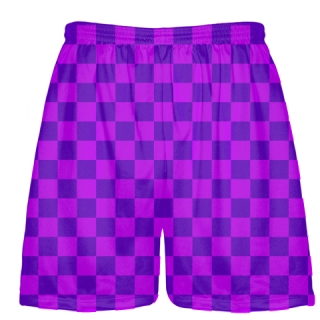 Purple Light Purple Checker Board Shorts