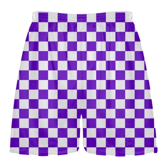 Purple Checker Board Shorts