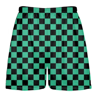 Teal Checker Board Shorts