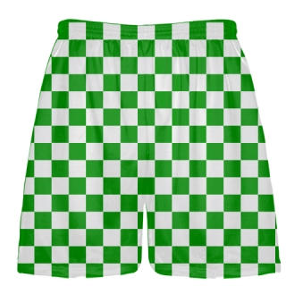 Kelly Green White CheckerBoard Shorts