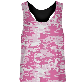 Girls Pink Camo Digital Field Hockey Pinnies
