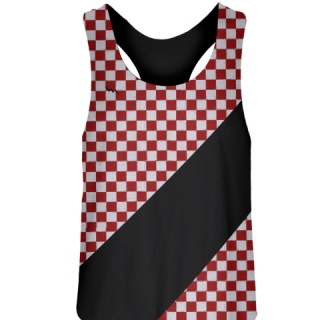 Red Checkerboard Field Hockey Pinnies