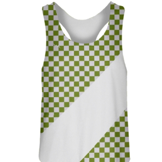 Green Checker Girls Field Hockey Pinnies
