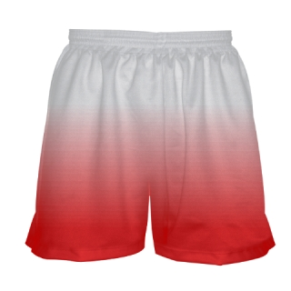White Red Fade Field Hockey Shorts