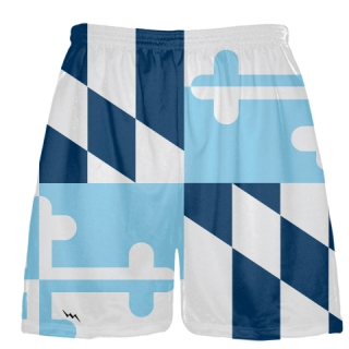 Navy Powder Blue Maryland Flag Shorts