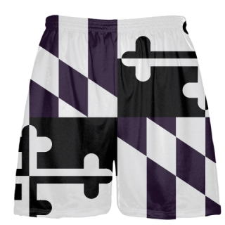 Purple Black Maryland Flag Shorts