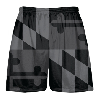 Black Maryland Flag Shorts