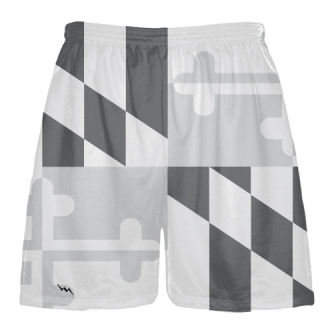 Gray Maryland Flag Lacrosse Shorts