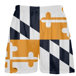 Navy Orange Maryland Flag Shorts