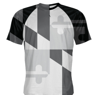 Gray Maryland Flag Shirts
