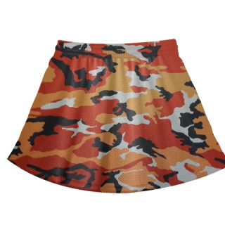 Orange Camouflage Field Hockey Skirts