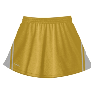 Athletic Gold Lacrosse Skirts