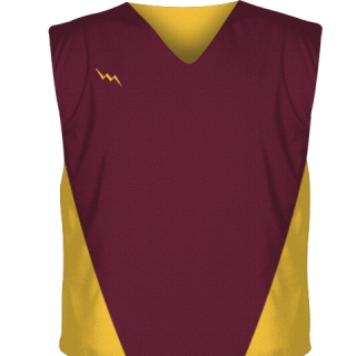 Maroon Collegiate Cut Reversible Jerseys