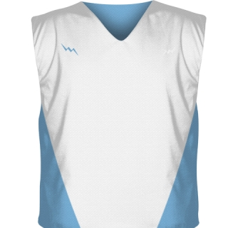 White Collegiate Cut Reversible Jerseys