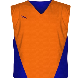 Orange Collegiate Cut Reversible Jerseys