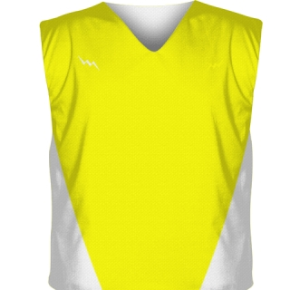 Yellow Collegiate Cut Lacrosse Jerseys