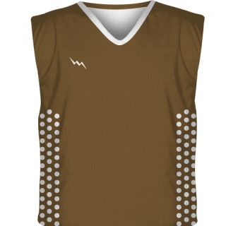 Brown Collegiate Cut Reversible Jerseys