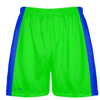 Neon Green Baseball Shorts