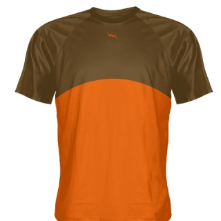 Brown Baseball Practice Shirts