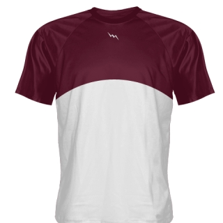 Maroon Baseball Warmup Shirts