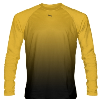 Athletic Gold Long Sleeve Lacrosse Shirts