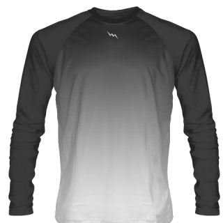 Charcoal Gray Long Sleeve Lacrosse Shirts