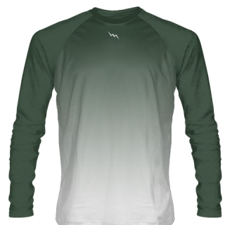 Forest Green Long Sleeve Lacrosse Shirts