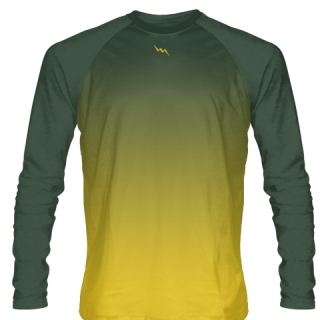 Dark Green Long Sleeve Lacrosse Shirts