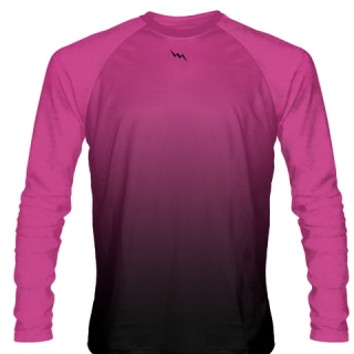 Hot Pink Long Sleeve Lacrosse Shirts