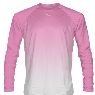 Pink Long Sleeve Lacrosse Shirts