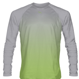 Lime Green Long Sleeved Lacrosse Shirts
