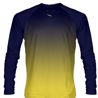 Navy Blue Long Sleeve Lacrosse Shirts