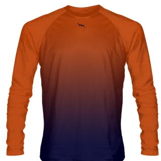Orange Long Sleeve Lacrosse Shirts