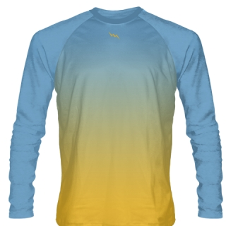 Powder Blue Long Sleeve Lacrosse Shirts