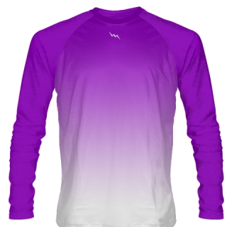 Purple Long Sleeve Lacrosse Shirts