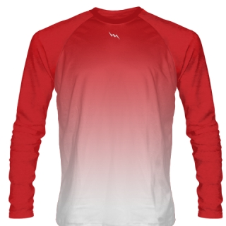 Red Long Sleeve Lacrosse Shirts