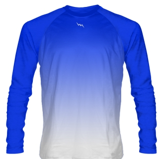 Royal Blue Long Sleeve Lacrosse Shirts