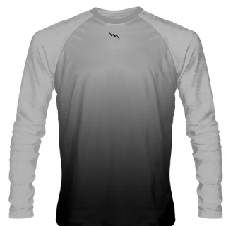 Silver Long Sleeve Lacrosse Shirts