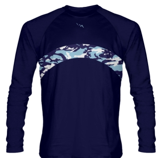 Camouflage Long Sleeve Lacrosse Shirts