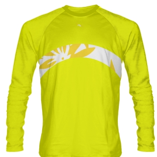 Yellow Long Sleeve Lacrosse Shirts