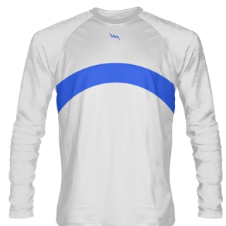 White Long Sleeve Lacrosse Shirts