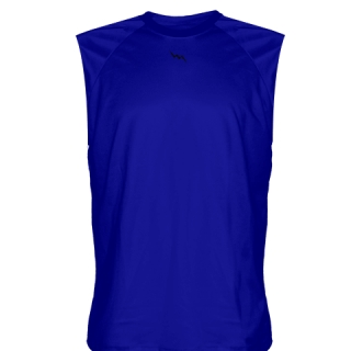 Royal Blue Sleeveless Softball Shirts