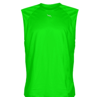 Neon Green Sleeveless Softball Jerseys