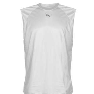 White Sleeveless Softball Jerseys