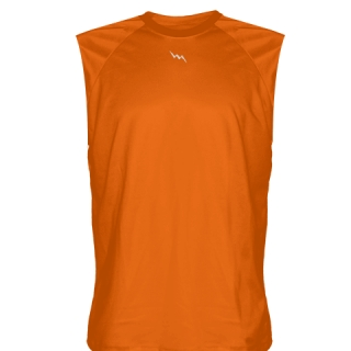 Orange Sleeveless Softball Jerseys