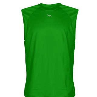 Kelley Green Sleeveless Softball Jerseys
