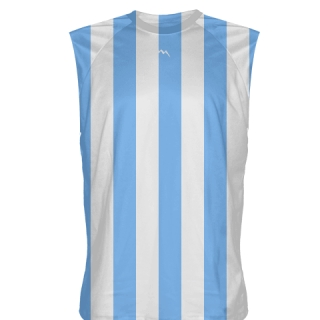 Blue Stripe Sleeveless Softball Jerseys