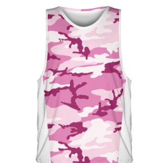 Pink Camouflage Basketball Jerseys